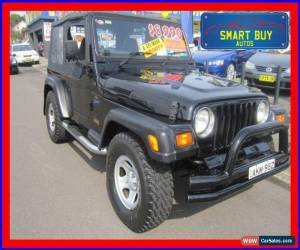 Classic 1998 Jeep Wrangler TJ Sport (4x4) Black Manual 5sp M Softtop For  Sale ...