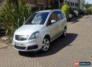 2007 VAUXHALL ZAFIRA 1.9 CDTI CLUB 120 AUTO ** EX CONDITION ** for Sale