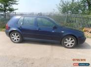 2002 VOLKSWAGEN GOLF V6 4MOTION BLUE M.O.T 21/05/2016 FOR SPARES OR REPAIR for Sale