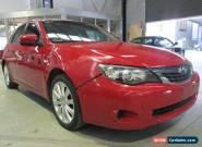 2008 Subaru Impreza MY08 R (AWD) Red Manual 5sp M Hatchback for Sale