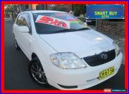 2002 Toyota Corolla ZZE122R Conquest Seca White Manual 5sp M Hatchback for Sale