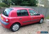 Classic 2002 Red Renault Clio Expression 75 - 16V - 1149cc - MOT until Dec 2016 for Sale