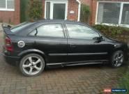 2002 VAUXHALL ASTRA SXI 16V BLACK for Sale