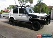 2011 Toyota Landcruiser VDJ79R MY12 Update Workmate (4x4) White Manual 5sp M for Sale