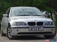 2003 BMW 318I ES AUTO SILVER - SPARES & REPAIRS for Sale