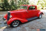 Classic 1934 Ford 3- Window Steel Coupe for Sale