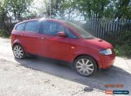 2002 AUDI A2 SPORT RED,5-DOOR HATCHBACK,FOR SPARES OR REPAIR for Sale