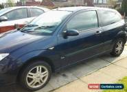 2001 FORD FOCUS ZETEC BLUE for Sale