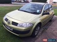 Renault Megane Authentique 2005 1.6 petrol gold green 5 door spares repairs  for Sale