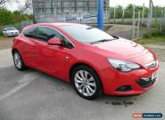 2012 VAUXHALL ASTRA GTC SRI 2.0 CDTI S/S RED FINANCE REPO,SPARES OR REPAIR,1 KEY for Sale