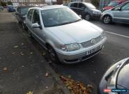 2001 VOLKSWAGEN POLO MATCH AUTO SILVER SPARES OR REPAIR for Sale