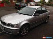 2003 BMW 320D SE SILVER - spares or repair  for Sale