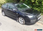 2005 FORD FOCUS ZETEC CLIMATE BLACK 1.6 PETROL HPI CLEAR LONG MOT 3 DOOR CAR for Sale