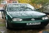 Classic VW golf GT TDI, 2003 Green Diesel, spares or repair for Sale