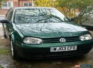 VW golf GT TDI, 2003 Green Diesel, spares or repair for Sale