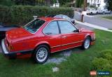 Classic 1987 BMW 6-Series for Sale