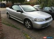 2002 VAUXHALL ASTRA COUPE CONVERTIBLE SILVER for Sale
