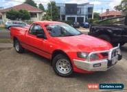 2006 Ford Falcon BF MkII RTV Red Automatic 4sp A Utility for Sale