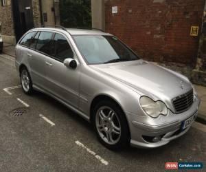 Classic Mercedes-Benz C32 AMG 354bhp 3.2 V6 Kompressor (Supercharged) Estate Silver 2002 for Sale
