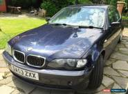 2003 BMW 330D SE AUTO BLUE SPARES OR REPAIRS NO RESERVE for Sale