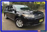Classic 2011 Toyota Kluger GSU40R MY11 Upgrade KX-R (FWD) 5 Seat Black Automatic 5sp A for Sale