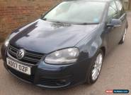 2007 VOLKSWAGEN GOLF GT SPORT TDI 170 BLUE 6 speed manual Full MOT for Sale