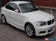 2009 (09 PLATE) BMW 123D M SPORT COUPE WHITE, MANUAL, DIESEL, FSH, 2 KEYS for Sale