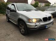 2003 BMW X5 SPORT AUTO SILVER SPARES OR EPAIR for Sale