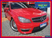 2012 Mercedes-Benz C63 W204 MY12 AMG Red Automatic 7sp A Sedan for Sale
