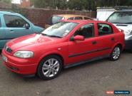 2002 VAUXHALL ASTRA SXI 16V RED for Sale
